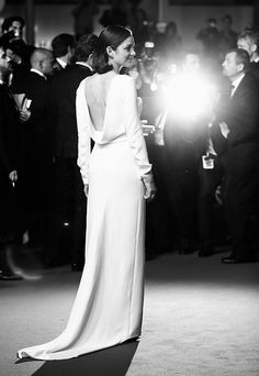 Marion Cotillard in Dior at 'The Immigrant' premiere 2013 Cannes Film Festival (back detail)