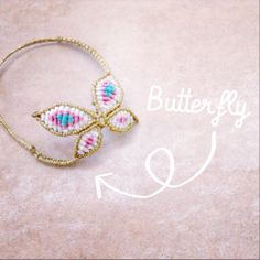macrame butterfly bracelet