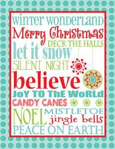 100 Christmas printables