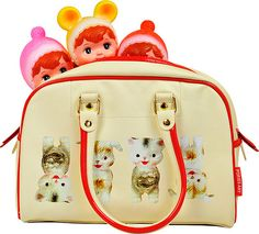 Dollies want to go shopping. Popjes Art Bowlingbag.