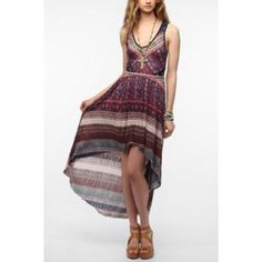 Ecote Lace Inset Maxi Dress Dress with lace side cutouts and lace racerback from ecote Urban Outfitters Dresses Maxi