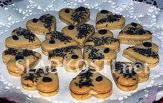Caro srdíčka s ořechovou náplní Muffin, Baking, Breakfast, Cookies, Food, Morning Coffee, Crack Crackers, Bakken, Biscuits