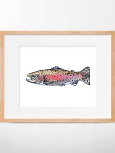 B2G1 Rainbow Trout Print Hunting and Fishing Fly by HippieHoppy