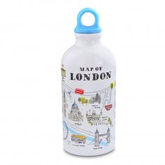 london illustrated water bottle