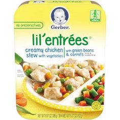 Gerber Lil' Entrees Creamy Chicken and Vegetable Stew with Green Beans and Carrots Organic Baby Food - 6.6 Ounce