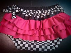 Checkered with pink ruffles diaper cover by killerkrafts on Etsy, $10.00