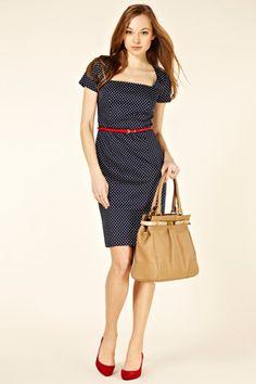 #workweartrendsalert polka dot shift dress @Oasis. great value at £65 too.