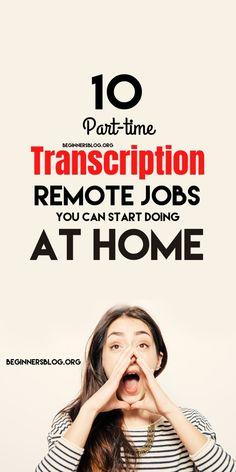 Way To Make Money, Make Money Online, Transcription Jobs From Home, Best Side Jobs, Online Jobs For Moms, Legitimate Online Jobs, Work From Home Jobs