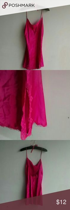 Victoria Secret Lingerie This is adorable Victoria Secret lingerie nighty. It's a size medium. In great condition. Has a slipt up side.  Any questions please feel free to ask. Bundle and save. Happy Poshing! Victoria's Secret Intimates & Sleepwear Pajamas