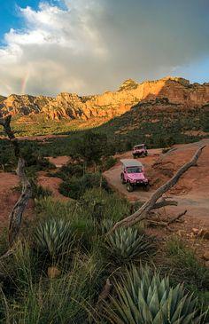 Riding the Broken Arrow Trail with Pink Jeep Tours, Sedona, Ariz