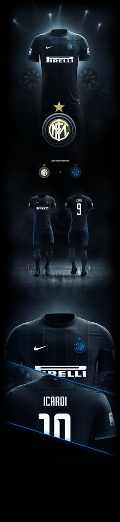 Home kit design for Inter Milan. Decided to try something else other than their traditional blue and black striping.