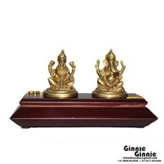 This Ginnie & Ginnie Exclusive Laxmi Ganesh Base with MDF base is a product from our Statue & Sculptures Collection. It is made of Brass and it got Brass finish on it. Its approx LxWxH is 2x1.5x2.5 inches. It is of approx 410 grams. Unique Code of this product is M400344.03