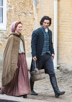 Eleanor Tomlinson and Aidan Turner as photographed by Andy Rose - via www.andyrosephoto.com/Poldark/
