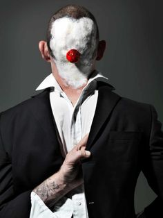 Face off: extreme clown portraits – in pictures | Art and design | The Guardian Arte Peculiar, Face Off, Commercial Photography, The Guardian, Joker, Funny, Artist, Fictional Characters, Clowns