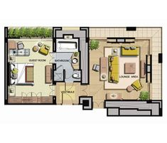 The Sentosa Resort / Deluxe suite floorplan