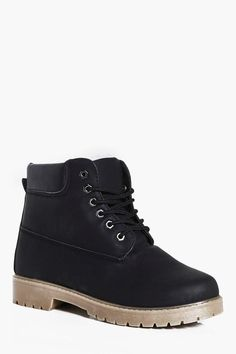 boohoo Borg Lined Worker Boots