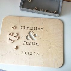 AMPERSAND puzzle guest book for weddings. Completely custom. Made for you with your names and wedding date. #bellapuzzles #wedding #guestbookalternative #craftsmanship