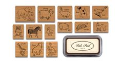 Amazon.com - Cavallini Rubber Stamps Animals, Assorted with Ink Pad - Decorative Rubber Stamps