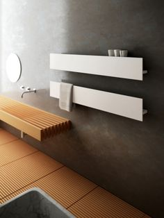 Un Radiateur Seche Serviettes Discret Dans Une Salle De Bains Zen Chauffage Bain