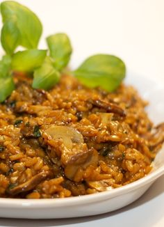 mushroom marsala risotto. Just made this and it was delicious! Took some time and lots of attention as is typical when making risotto, but it was so good.