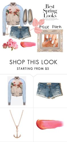 """Rose Path Nails"" by brooke-paganelli on Polyvore featuring Valentino, Hollister Co., H&M, Lucky Brand, e.l.f. and nails"