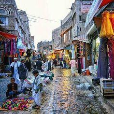 الأسواق الشعبيه في صنعاء القديمه.    Yemen old sana'a #H_G