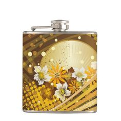 Floral Fashion 13 Wrapped Flask