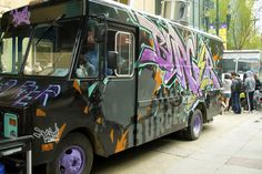 Graffiti art trucks in movement art for everyone https://www.etsy.com/shop/urbanNYCdesigns?ref=hdr_shop_menu #graffiti #streetart #graffititrucks