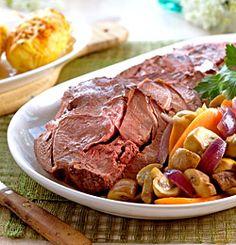 Lag det beste som finnes til kvinnedagen - Søk Pot Roast, Steak, Beef, Ethnic Recipes, Carne Asada, Meat, Roast Beef, Steaks
