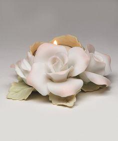 Love this Roses Tealight & Holder on #zulily! #zulilyfinds