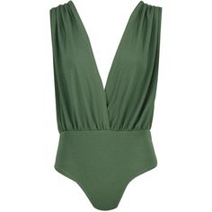 Boohoo Laura Textured Deep Plunge Wrap Body ($20) ❤ liked on Polyvore featuring cropped cami, lace camis, sequin camisole, green cami and lacy camisole