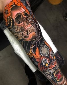 Another session on this sleeve ➡️Swipe for more pics Thanks a lot Christoph Done at Tribal Tattoos, Tattoos Skull, Body Art Tattoos, Hip Tattoos, Lower Stomach Tattoos, Lower Back Tattoos, Sleeve Tattoos For Women, Tattoos For Guys, Tatuajes New School
