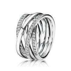 PANDORA | Eternity Entwined Silver & Zirconia Ring - PANDORA