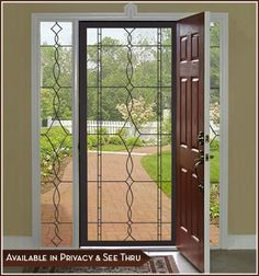 Add an upscale new look to glass doors w/ Allure Leaded Glass design.