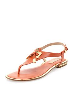+Hara+Bow-Detail+Thong+Sandal+by+Michael+Kors+at+Neiman+Marcus.