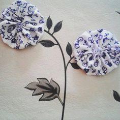 Yoyos de tela Jardín de flores