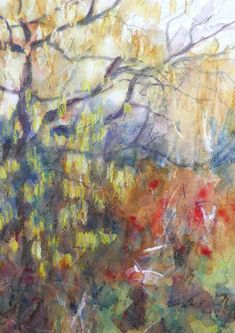 contemporary watercolour impressionist painting copper red yellow abstract wall art home decor special gift limited edition giclee print Watercolor Landscape, Abstract Landscape, Watercolour Painting, Original Paintings, Original Art, Impressionist Paintings, Abstract Wall Art, Fine Art Prints, Birmingham