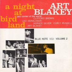 Art Blakey. A night at Bird Land. Alternate cover.