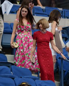 Anna Wintour at the US Open | POPSUGAR Fashion