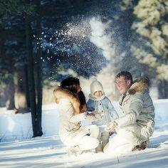 Зимняя фотосессия winter family photography kids