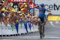 2013 7/7 rit 9 Bagnères-de-Bigorre > Daniel Marin wins