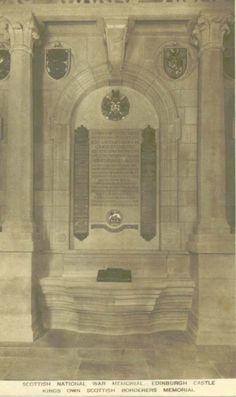 Scottish National War Memorial, Kings Own Scottish Borderers Memorial, Edinburgh