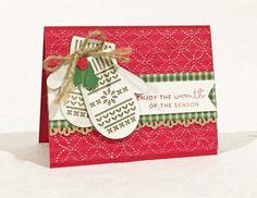 Just Stamp | Stampin Up! Smitten Mittens On Quilt