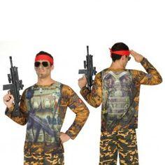 #Disfraz #Camiseta #3D #Soldado para Hombre #Divertida #camiseta en #3D, en tan solo segundos estarás listo para ir de fiesta sin necesidad de comprar accesorios estas camisetas lo llevan todo. En #mercadisfraces tu tienda de #disfraces #online disponemos del mayor stock en #disfraces #originales y #disfraces baratos para tus fiestas.