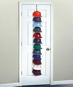 Decorative Hat Rack Ideas You Will Ever Need Perfect Curve Large Over Door Hanging Hat Rack Zulily intended for [keyword Wall Hat Racks, Diy Hat Rack, Baseball Hat Racks, Baseball Display, Baseball Caps, Cowboy Hat Rack, Hat Shelf, Shelf Wall, Cap Rack