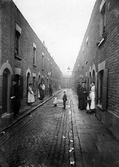 East End slum Street 1912 ~ The Whitechapel district of London at the end of the nineteenth century was generally regarded as being a 'horrible black labyrinth, reeking from end to end and swarming with human vermin, whose trade is robbery and whose recreation is murder'.