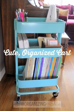To organize all my voice lesson stuff! Office Supply Organization, Classroom Organization, Organization Hacks, Organizing Ideas, Ikea Cart, Piano Room, Piano Teaching, Packaging, Piano Lessons