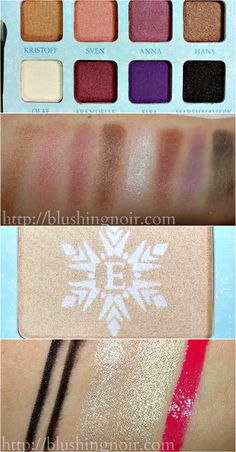 Snow and Ice Beauty Book swatches // ELF Disney Elsa Collection at Walgreens!