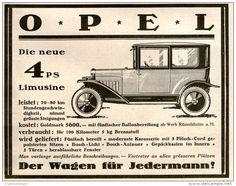 Original-Werbung/ Anzeige 1924 - OPEL 4 PS - Ca. 140 X 110 Mm - Werbung