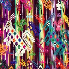 How crazy is this Guatemalan textile? Takes such amazing talent to make…